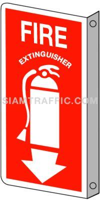 ป้ายถังดับเพลิง FI 16 ขนาด 20 x 40 ซม. เครื่องดับเพลิง Fire extinguisher