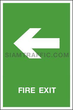 Safe Condition Sign SA 15 ขนาด 30 x 45 ซม. ป้ายทางหนีไฟ Fire Exit