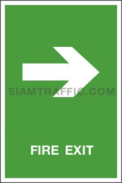 Safe Condition Sign SA 16 ขนาด 30 x 45 ซม. ป้ายทางหนีไฟ Fire Exit