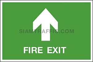 SA 17 ขนาด 30 x 45 ซม. Safe Condition Sign ป้ายทางหนีไฟ Fire Exit