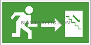 Safety Sign SA 22 ขนาด 15 x 30 ซม. ป้ายทางลงบันได
