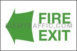 ป้ายเซฟตี้ SA 43 ขนาด 20 x 30 ซม. ป้ายทางหนีไฟ Fire Exit