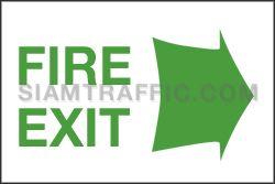 ป้ายเซฟตี้ SA 44 ขนาด 20 x 30 ซม. ป้ายทางหนีไฟ Fire Exit