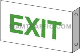 ป้ายเซฟตี้ SA 45 ขนาด 20 x 30 ซม. ป้ายทางออก Exit