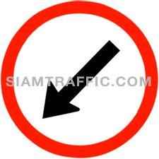 Regulatory Sign ให้ชิดซ้าย ให้ขับรถผ่านไปทางซ้ายของป้าย