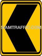 Warning Signs เตือนแนวทางต่างๆ ทางตอนนั้นมีการเปลี่ยนแปลงแนวทาง ตามทิศทางที่ชี้ไป ผู้ขับรถจะต้องขับรถให้ช้าลง และเดินรถด้วยความระมัดระวัง