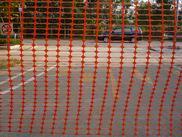 ตาข่ายขึงกั้นใช้สำหรับขึงกั้นบริเวณเขตก่อสร้าง สีส้ม