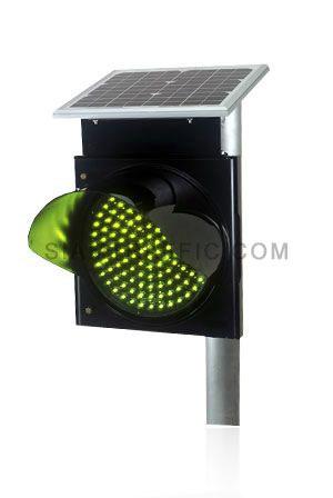 ไฟกระพริบพลังงานแสงอาทิตย์ชนิดหลอดไฟ LED สีเหลือง ใช้พลังงานจากแสงอาทิตย์