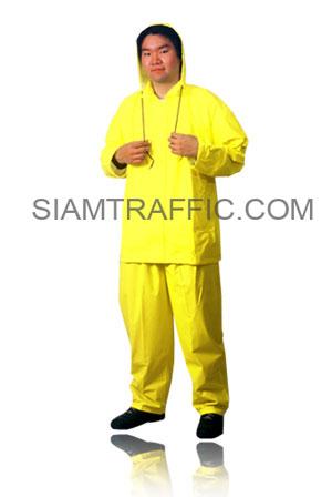 เสื้อฝนแบบ C : ชนิดแยกส่วน สีเขียวตองอ่อน