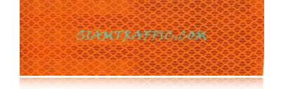 แผ่นสะท้อนแสงติดรถบรรทุก รถดับเพลิง รถยนต์ ไฮอินเทนซิตี้เกรดสีส้ม