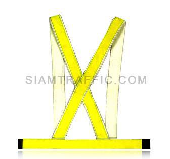 เสื้อกั๊กสะท้อนแสงแบบ SWB ผ่าหน้า ใช้ตีนตุ๊กแกแปะติด-ฉีกออก ขนาดฟรีไซส์ SWB04 ด้านหลัง