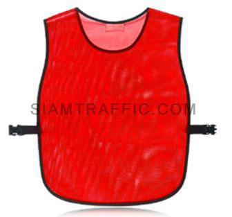 เสื้อสะท้อนแสงแบบ SWA ทั้งตัวเว้าหน้า เปิดด้านข้าง ใช้ตัวกดล๊อคพลาสติกสีดำขนาดฟรีไซส์ SWA01 ด้านหลัง