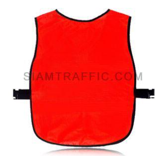เสื้อเซฟตี้แบบ SWE ผ่าหน้า ใช้ตีนตุ๊กแกแปะติด-ฉีกออก ขนาดฟรีไซส์ SWE03 ด้านหลัง