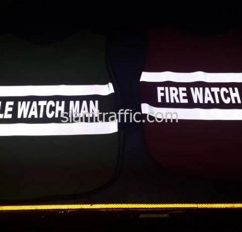 เสื้อสะท้อนแสง FIRE WATCH MAN และเสื้อจราจร HOLE WATCH MAN