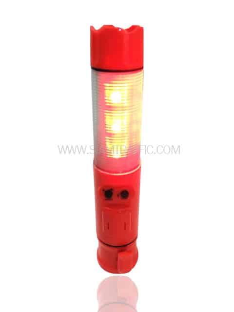 กระบองไฟกระพริบสีส้มแบบสั้นมีเสียงไซเรน
