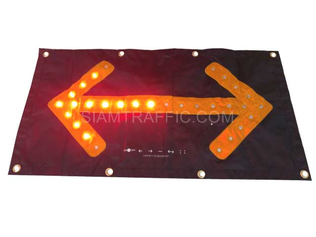led arrow warning sign