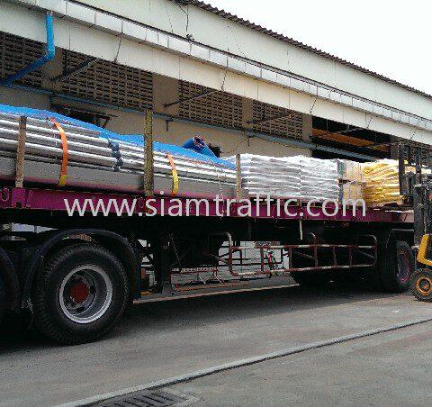 Steel guard rail ส่งไป น่าน และสีเทอร์โมพลาสติกส่งไป แพร่