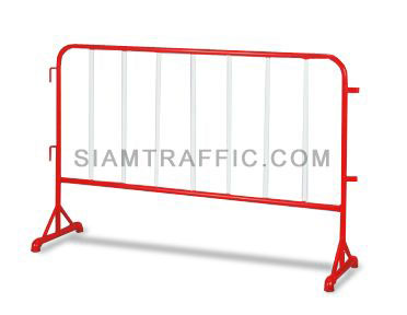 Steel Barrier : Type B Barrier (Without Wheels) 1.5 meter length x 100 cm. height x 50 cm. width