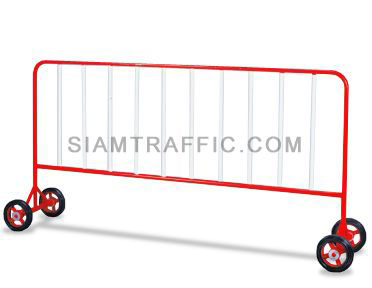 Steel Barrier : Type B Barrier (With Wheels) 2 meter length x 110 cm. height x 50 cm. width