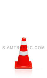 Traffic Cone 50 cm. attached with reflective tape.