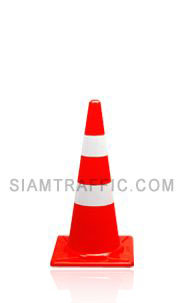 Traffic Cone 70 cm. attached with reflective sticker.
