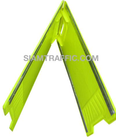 Safety Sign : Double Sided Floor Stand Sign ป้ายพลาสติกขาตั้งสองด้านเสริมสังกะสีเพิ่มความแข็งแรง