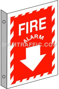 Fire Equipment Sign : Safety Sign F 14 size 20 x 30 cm. Fire alarm