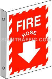 Fire Equipment Sign : Safety Sign F 15 size 20 x 30 cm. Fire hose