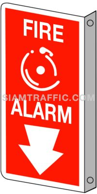 Fire Equipment Sign : Safety Sign F 17 size 20 x 40 cm. Fire alarm