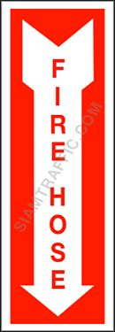 Fire Protection Sign F 09 size 15 x 45 cm. Fire hose