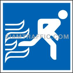 Safety Sign SAF 11 size 30 x 30 cm.