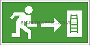 Fire Exit Sign SA 21 size 15 x 30 cm.