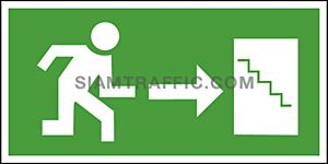 Fire Exit Sign SA 25 size 15 x 30 cm.