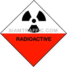 Sign Safety Mu 19 size 30 x 30 cm. Radioactive