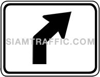 Directional arrow traffic sign 3.1-14
