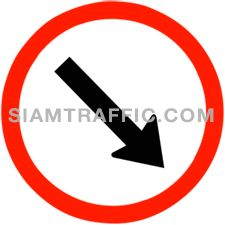 "Traffic Sign Manufacturers : ""Keep Right"" Drivers of vehicles must drive to the right of the sign."