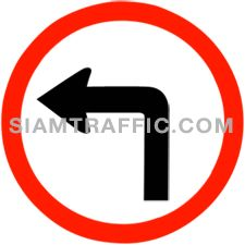 "Traffic Regulatory Signs : ""Left Turn"" Drivers of vehicles are allowed to make a left turn."