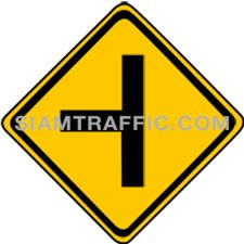 "2-16 Signs Warning ""90 Degree Side Road Left"" – A secondary way branches off the main way on the left ahead. Drivers should slow down the vehicle and drive carefully."