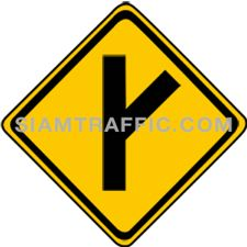 "2-19 Signs Warning ""Angle Side Road Left"" width="