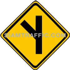 "2-20 Signs Warning ""Angle Side Road Right"" width="