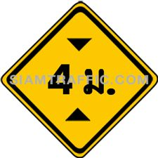 "2-31 A Warning Sign ""Height Restriction"" – The sign indicates that the way head has low top, with maximum height indicated in ""meter"" on the sign. Vehicles, which do not exceed the maximum height displayed, can pass through with caution and slow speed."