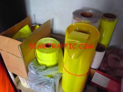 Reflective plastic for safety vest