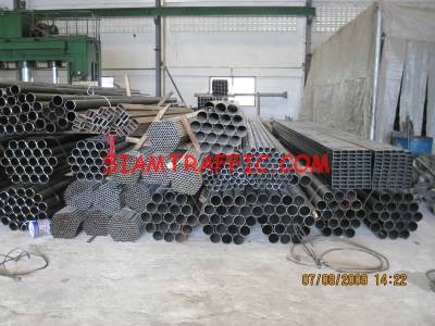Steel for guard rail pole