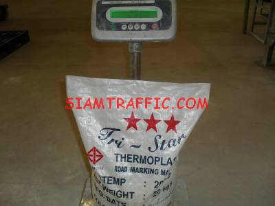 Manufacture of thermoplastic road marking materials