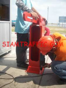 Installation of manual traffic barrier
