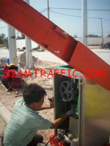 Installation of automatic traffic barrier
