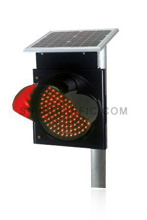 ไฟกระพริบพลังงานแสงอาทิตย์ชนิดหลอดไฟ LED สีแดง ใช้พลังงานจากแสงอาทิตย์