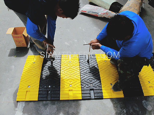 speed bumps at Siriraj hospital