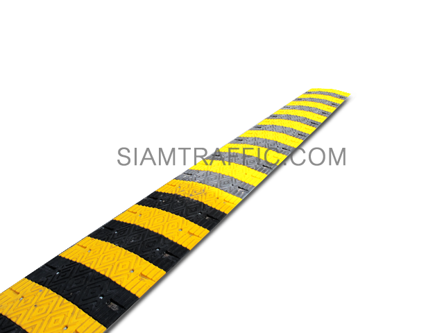 plastic yellow speed bump