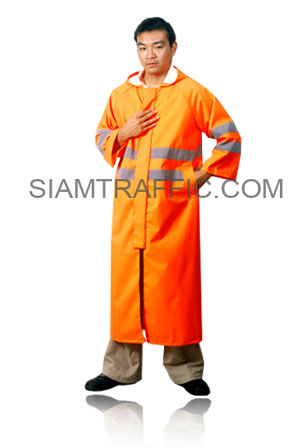 STF Reflective Rain Coat Type A : Gown (from head to ankle) : orange